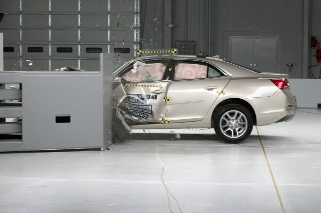 2014 Chevrolet Malibu IIHS During Testing1 660x438