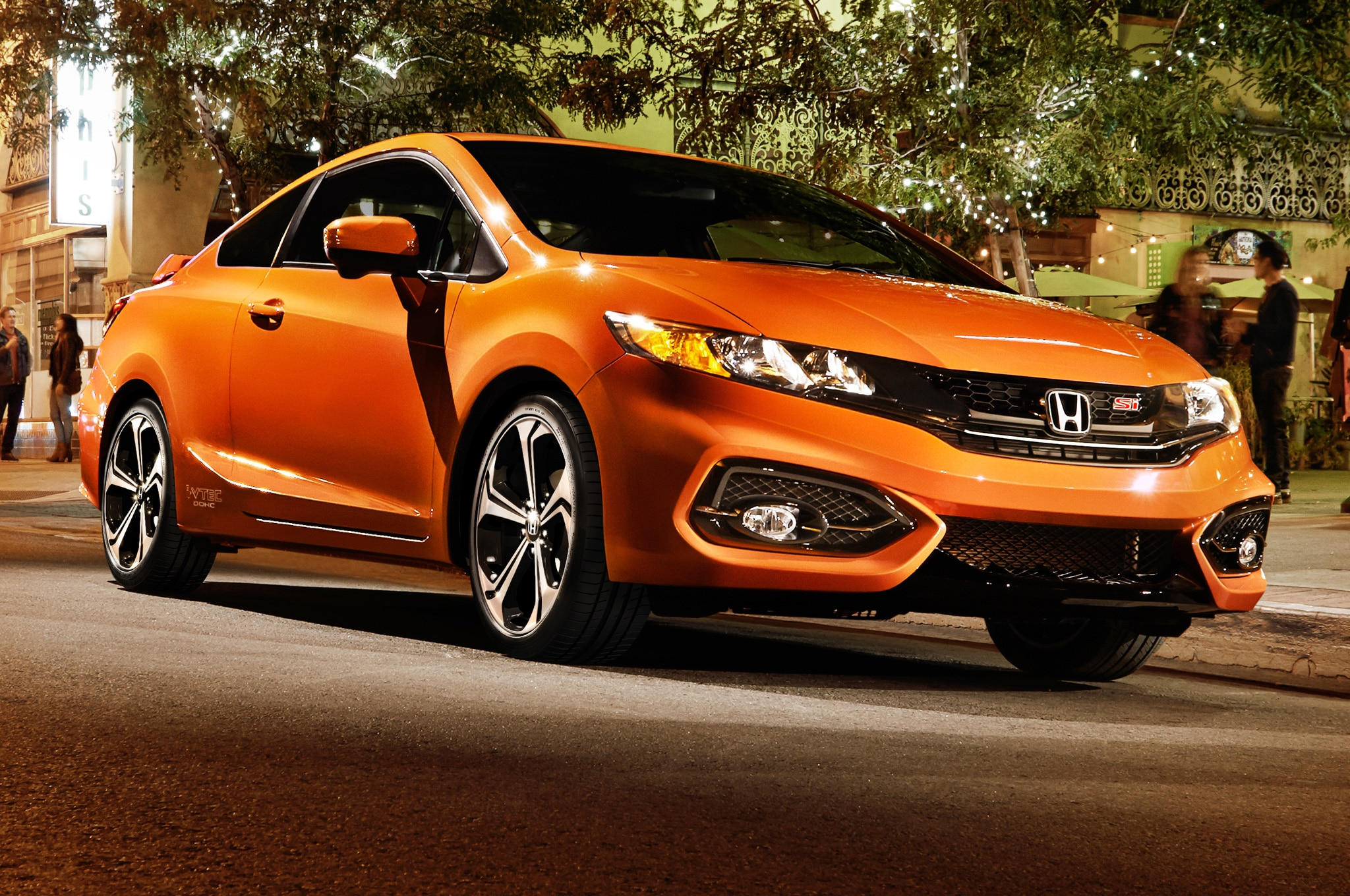 2014 Honda Civic Si Coupe Front Side View Parked1