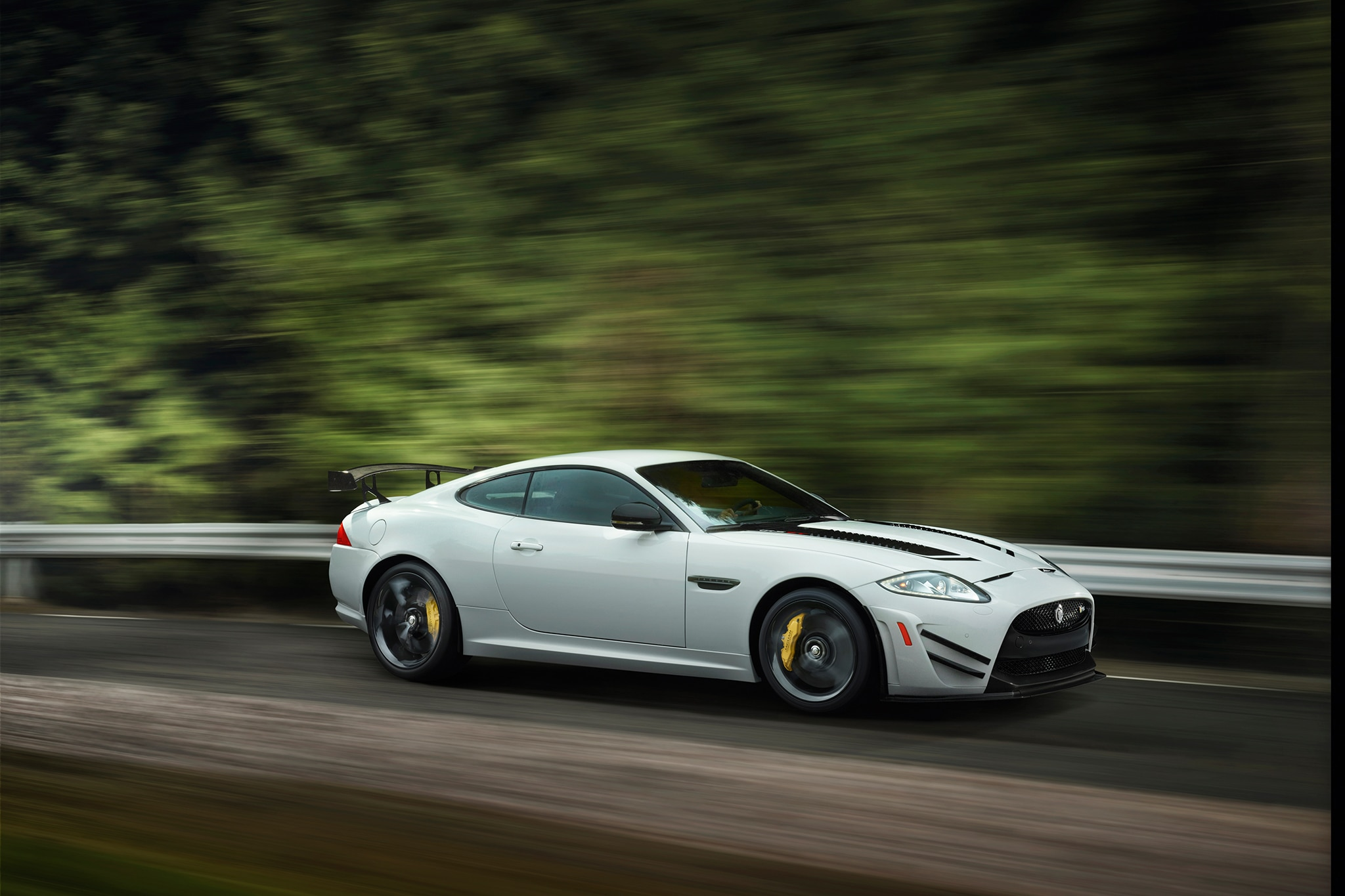 2014 Jaguar XKR S GT Passengers Side In Motion1