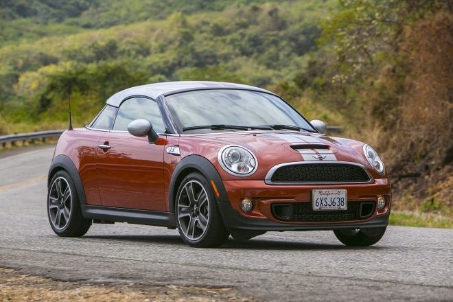 2014 MINI Cooper Coupe Three Quarters In Motion1 660x440