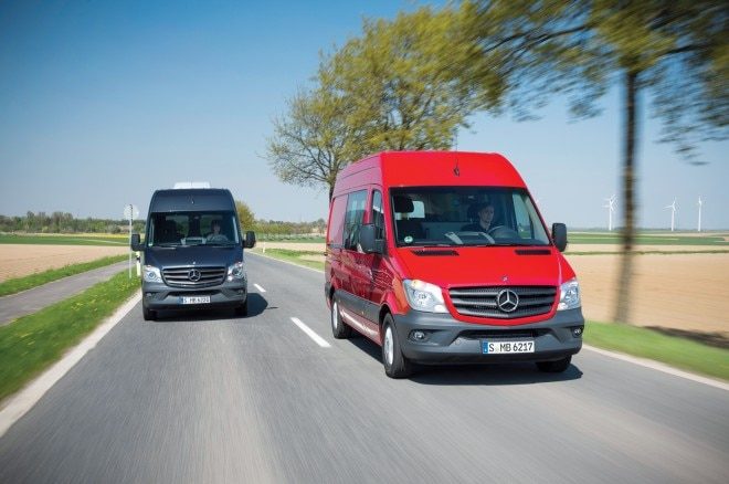 2014 Mercedes Benz Sprinter Front End In Motion 04 660x438