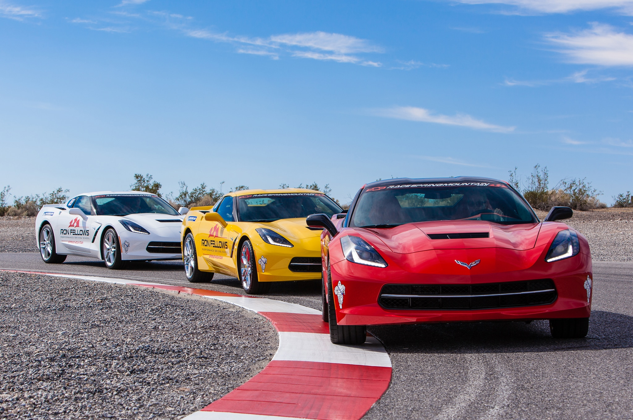 2014 Chevrolet Corvette Stingray Ron Fellows Driving School Trio1