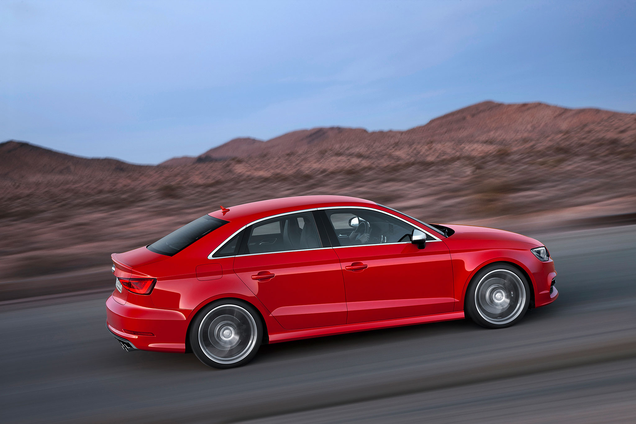 2015 Audi A3 Sedan Side In Motion 11
