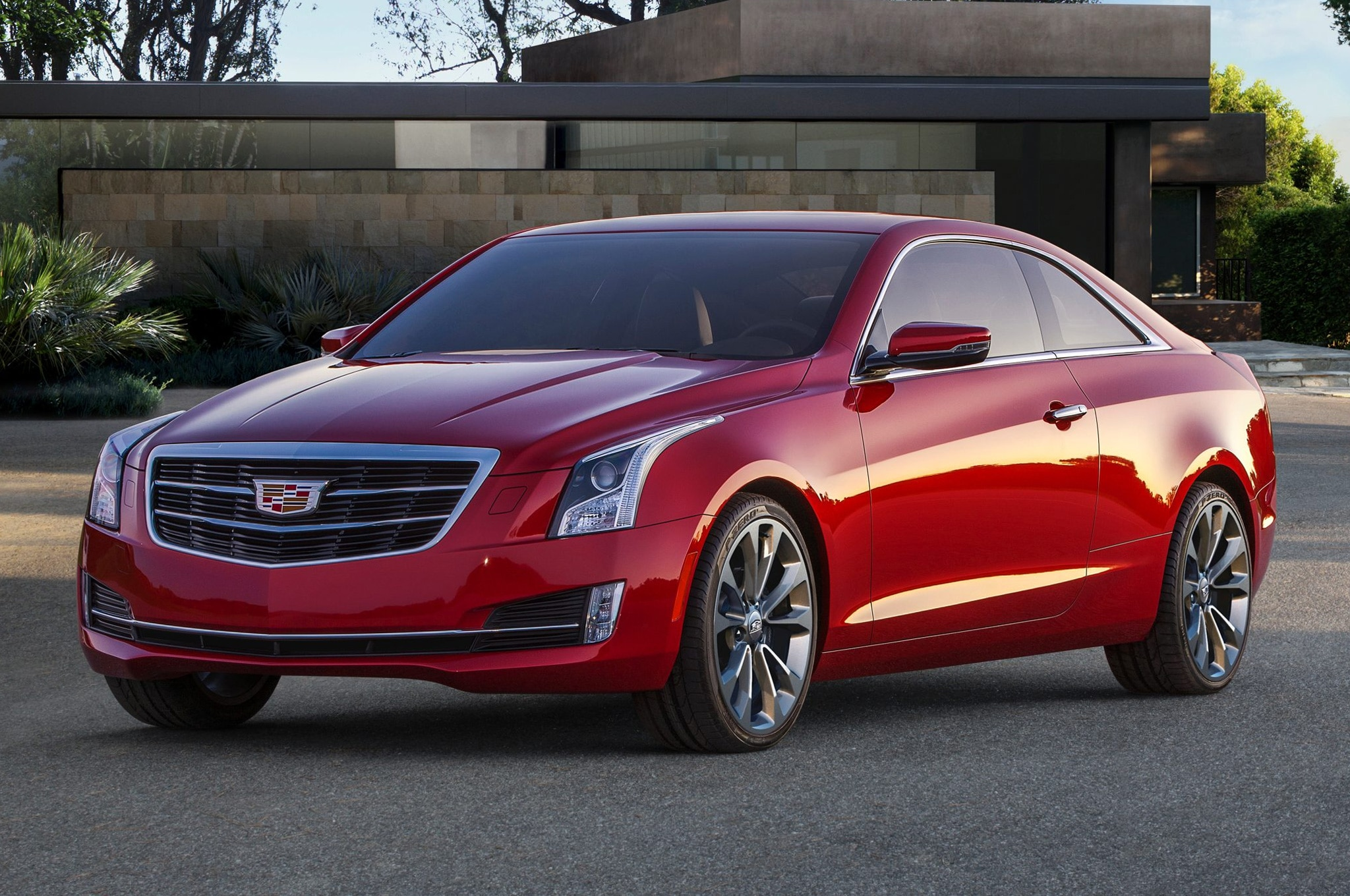 2015 Cadillac ATS Coupe Red Front Side View