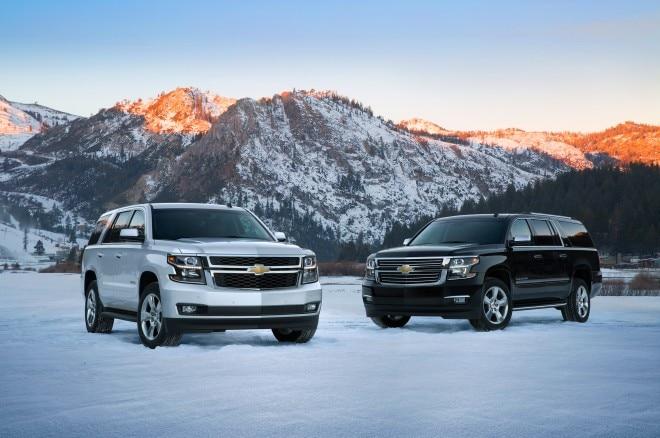 2015 Chevrolet Suburban Chevrolet Tahoe Front Three Quarters1 660x438