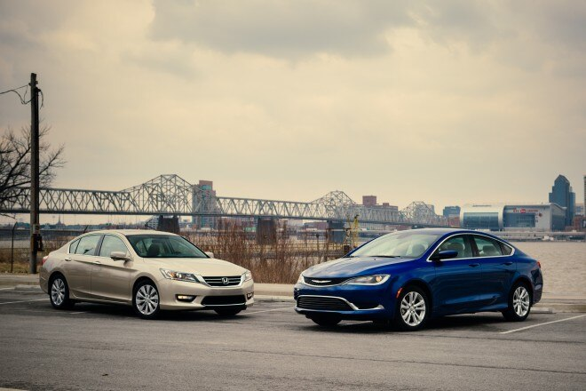 2015 Chrysler 200 Limited Vs 2014 Honda Accord EX Front Three Quarter 660x440