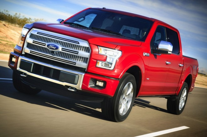 2015 Ford F 150 Front Side View In Motion 660x438