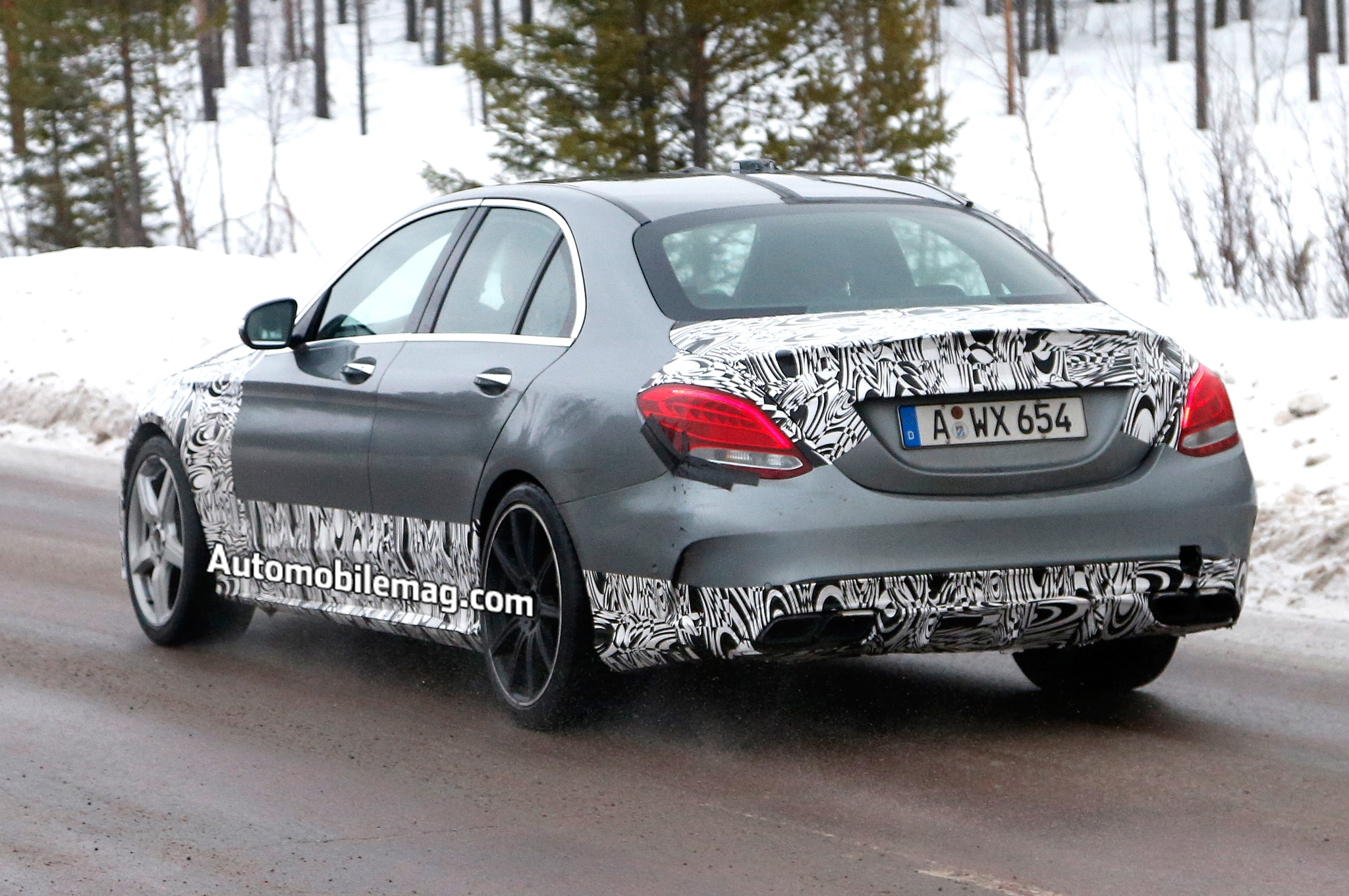 2015 mercedes benz c63 amg spied in sweden automobile for 2015 amg c63 mercedes benz