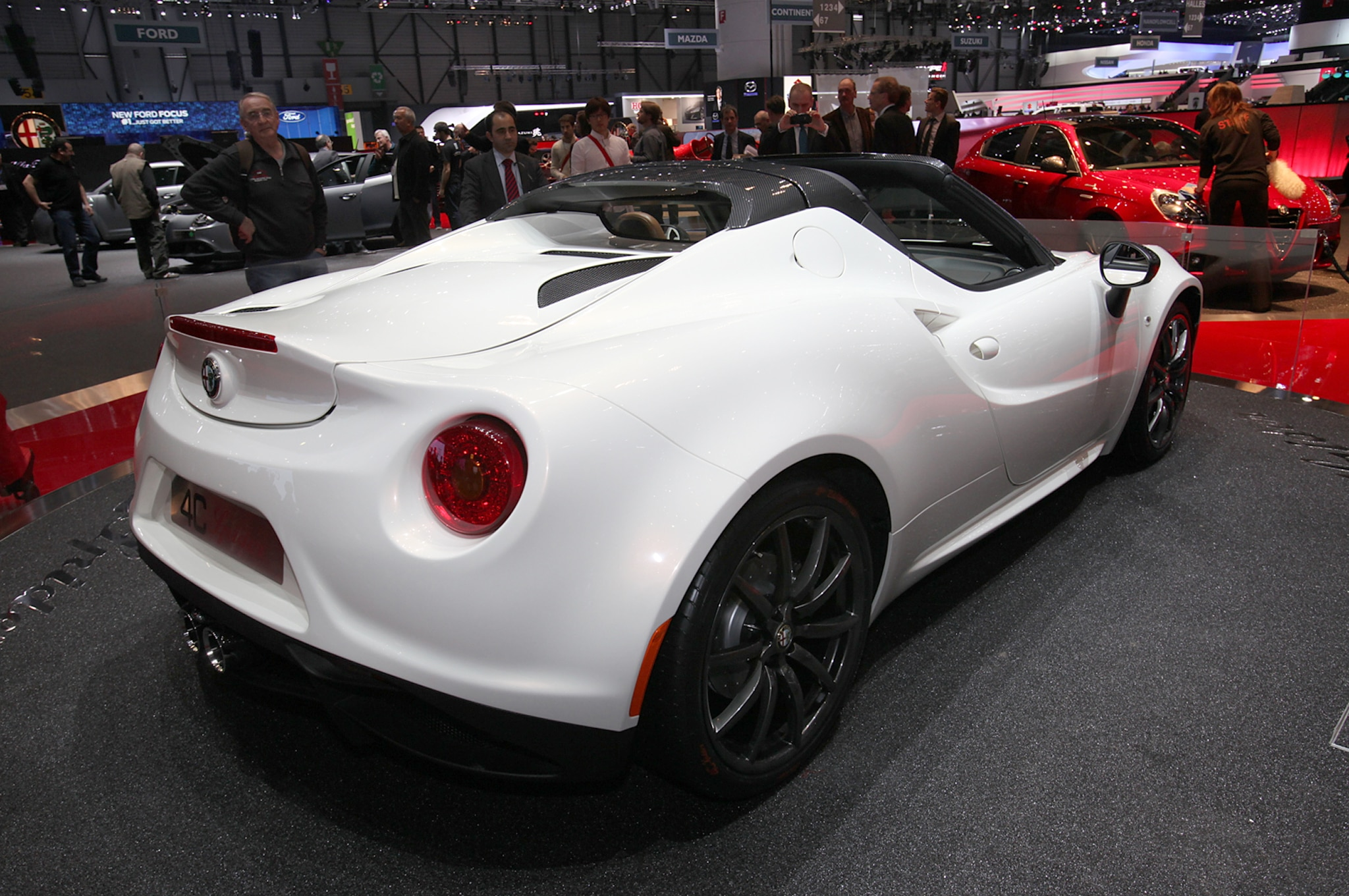 alfa romeo 4c spider concept shown in geneva automobile magazine. Black Bedroom Furniture Sets. Home Design Ideas