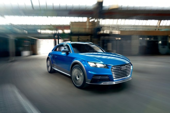 Audi Shooting Brake Concept Front Three Quarter In Motion1 660x438