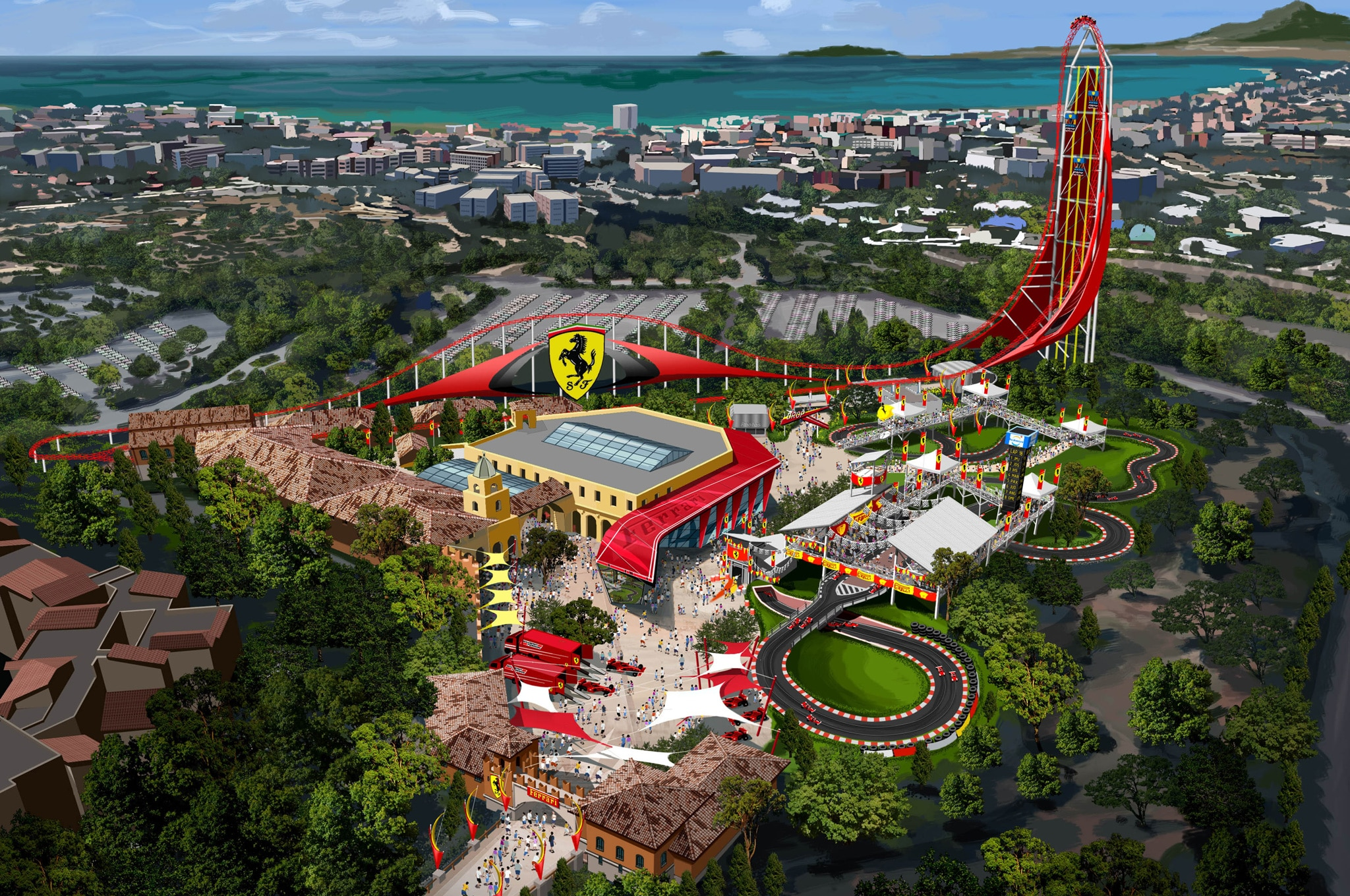 Ferrari Land Theme Park1
