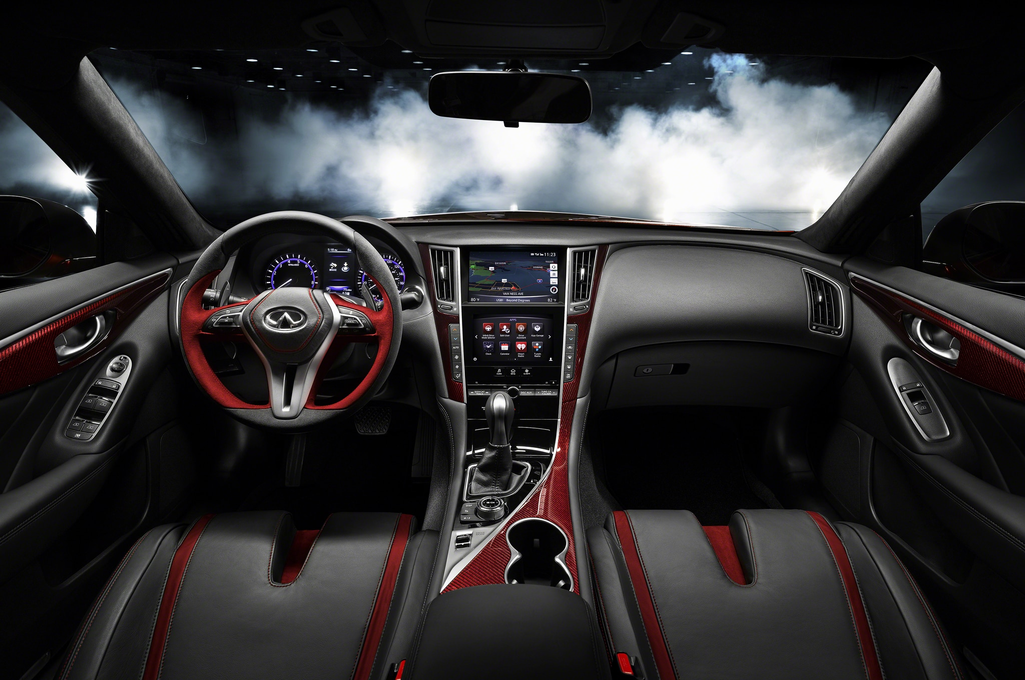 Infiniti Q50 Eau Rouge Powered by 3 8L Turbo V 6 Automobile Magazine