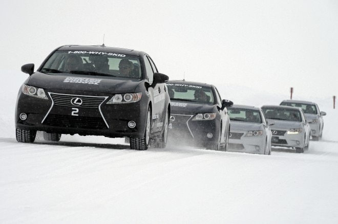 Lexus GS Front View At Bridgestone Winter Driving School1 660x438