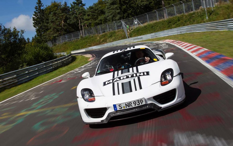 Porsche 918 Spyder On Nurburgring Front View11