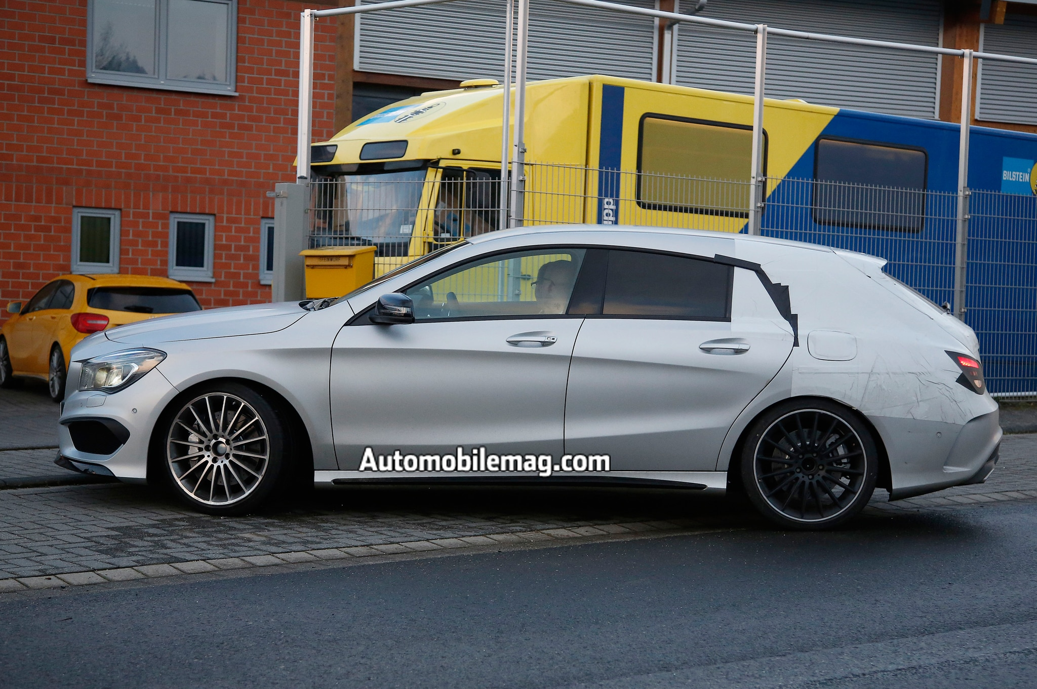 mercedes benz cla45 amg shooting brake spied automobile. Black Bedroom Furniture Sets. Home Design Ideas