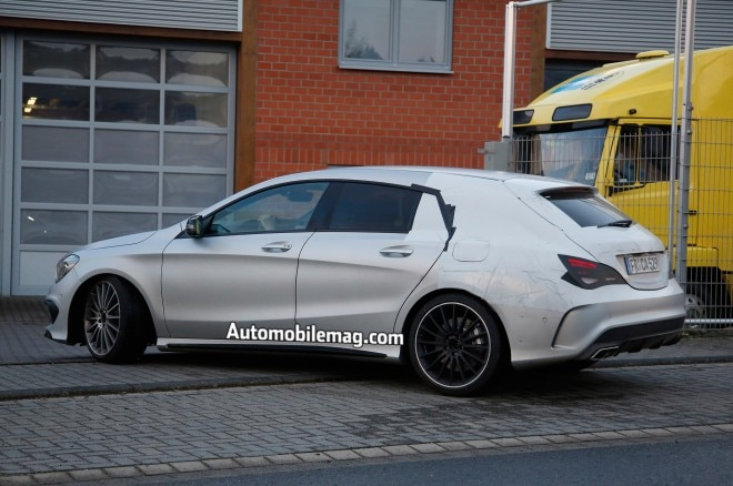 Mercedes Benz Cla45 Amg Shooting Brake Spied Rear Three Quarter 11 660x438