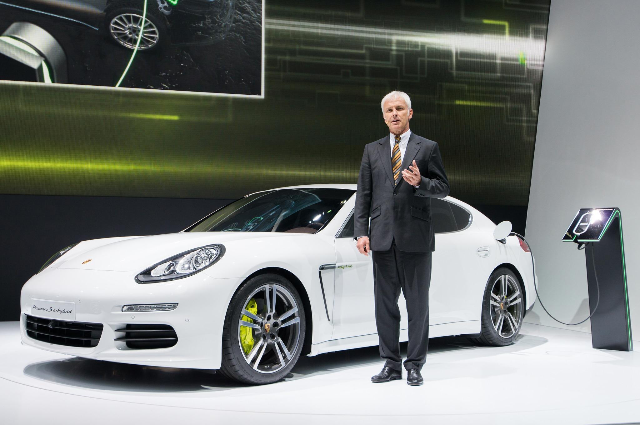 Porsche Chairman Matthais Muller With Panamera