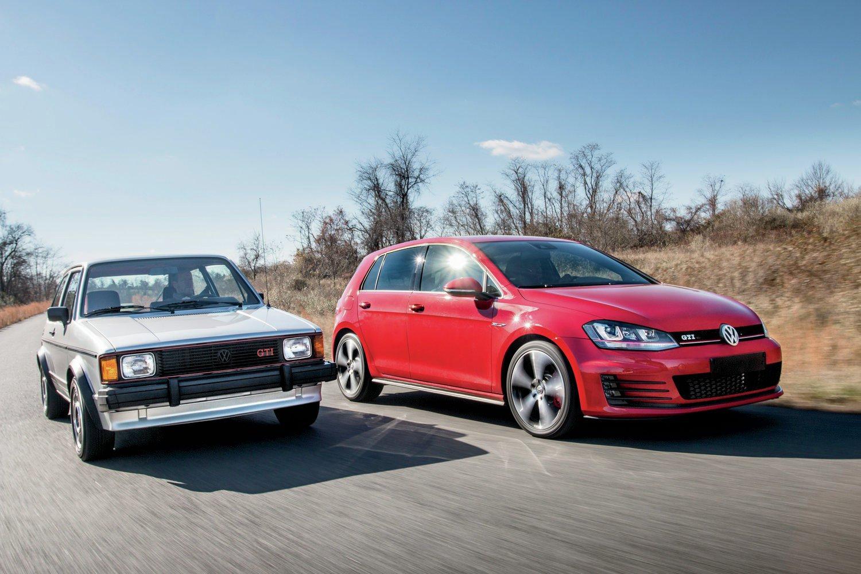 1984 Volkswagen GTI And 2015 Volkswagen GTI3