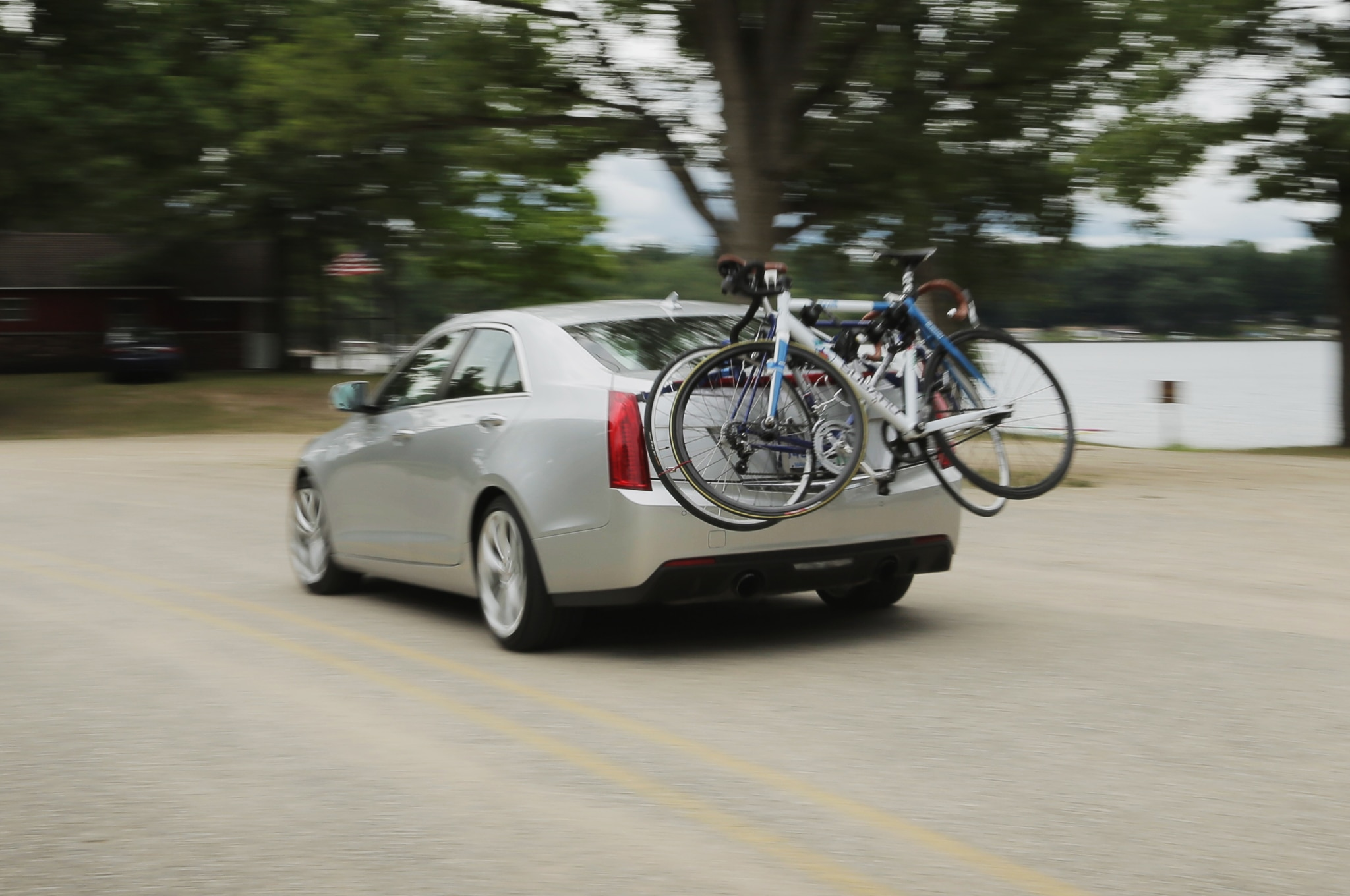 2013 Cadillac Ats Rear Three Quarter Motion Bike Rack1