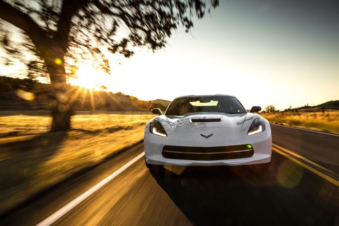 2014 Chevrolet Corvette Stingray Profile Front In Motion1 660x440