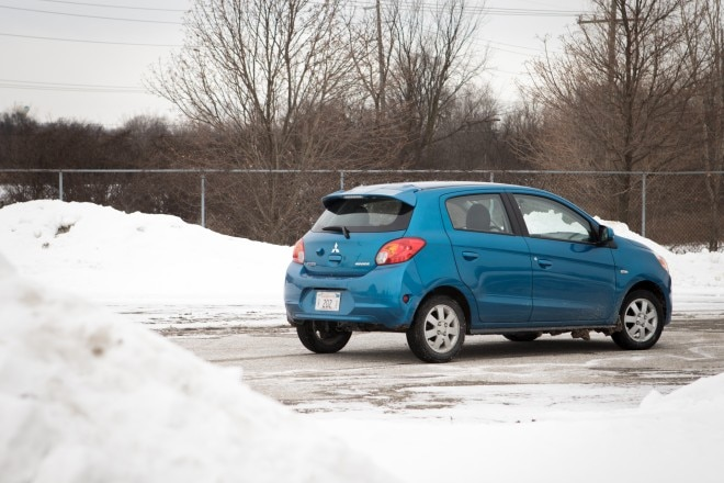 2014 Mitsubishi Mirage Es Cvt Rear Three Quarter 21 660x440