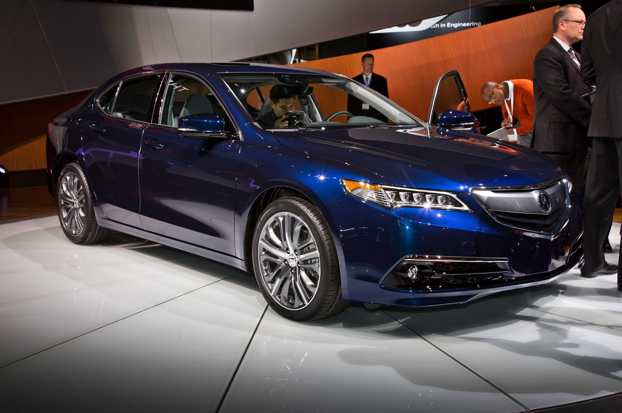 2015 acura tlx shown in new york automobile magazine. Black Bedroom Furniture Sets. Home Design Ideas