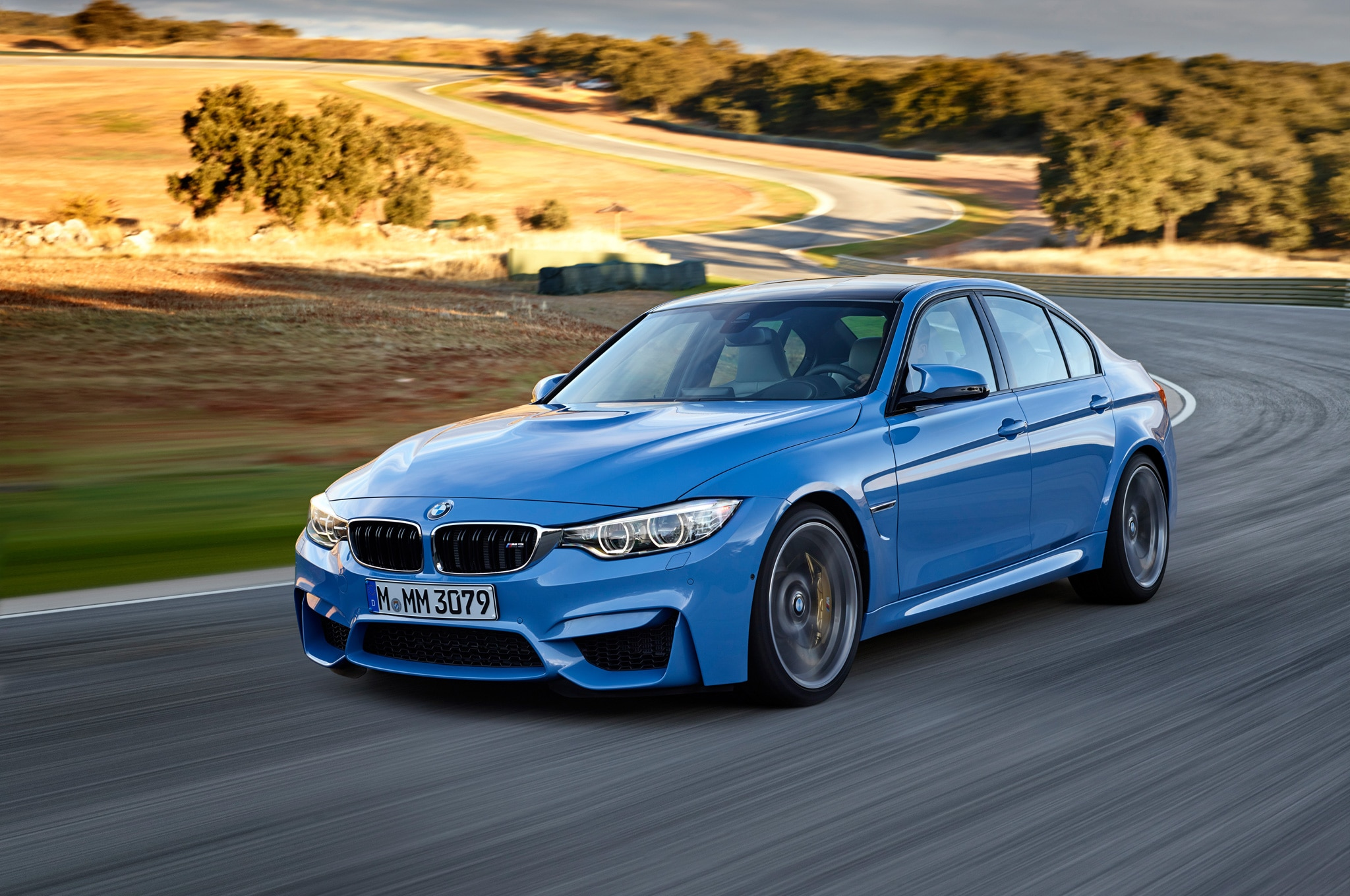 2015 BMW M3 In Motion On Track1