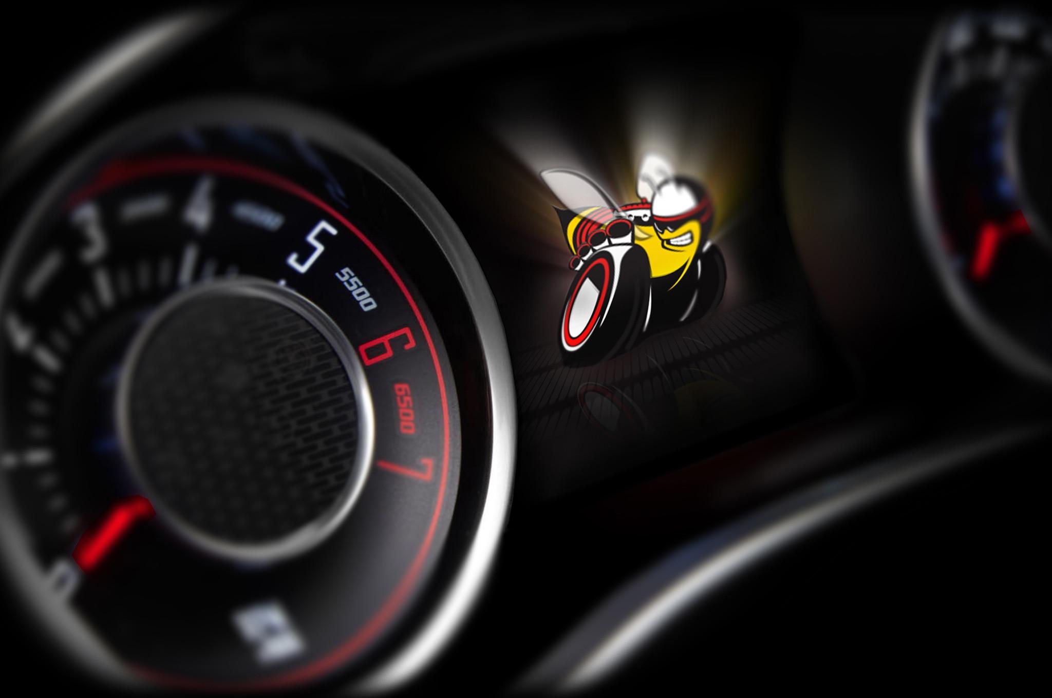 2015 Dodge Challenger Interior Teaser With Scat Pack Logo1