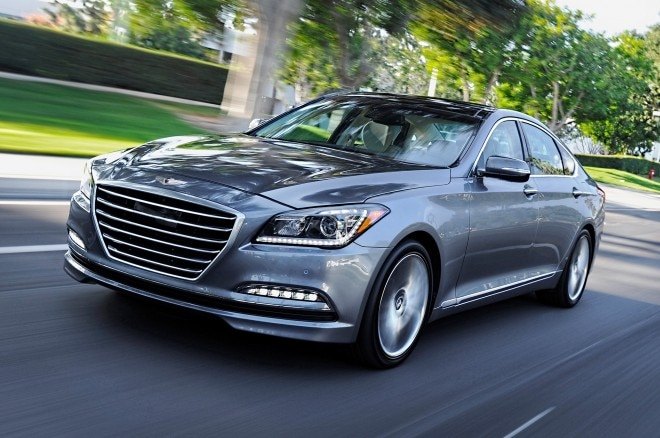 2015 Hyundai Genesis Front View In Motion1 660x438