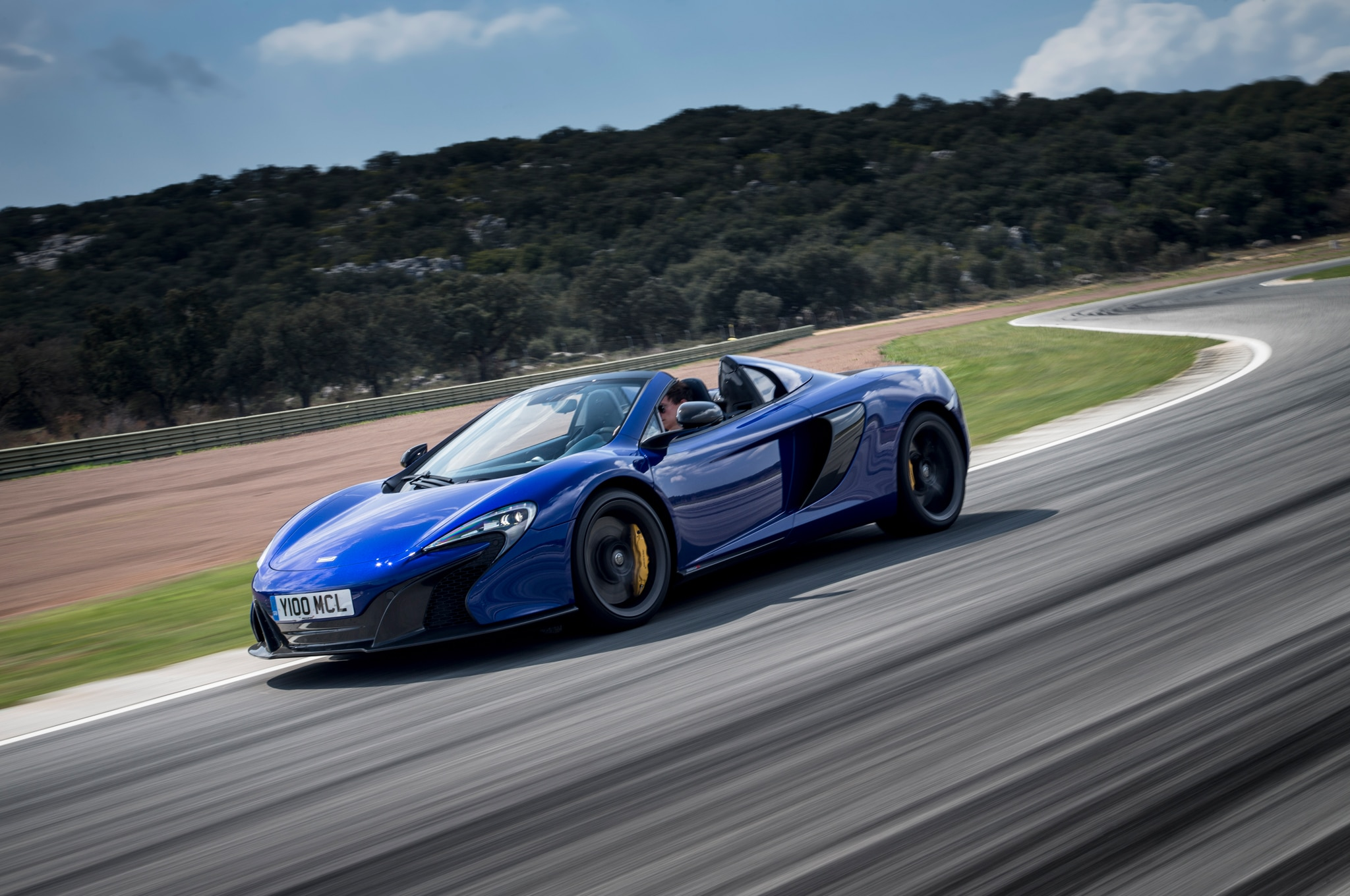 2015 Mclaren 650S Spider Front Side In Motion2