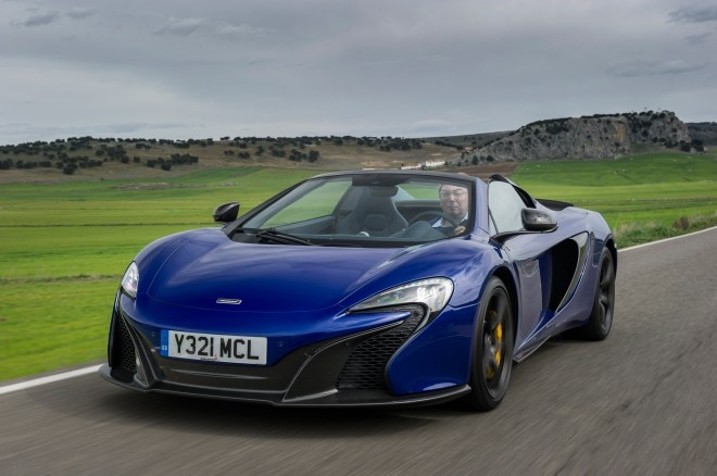 2015 Mclaren 650S Spider Front Three Quarters In Motion 031 660x438