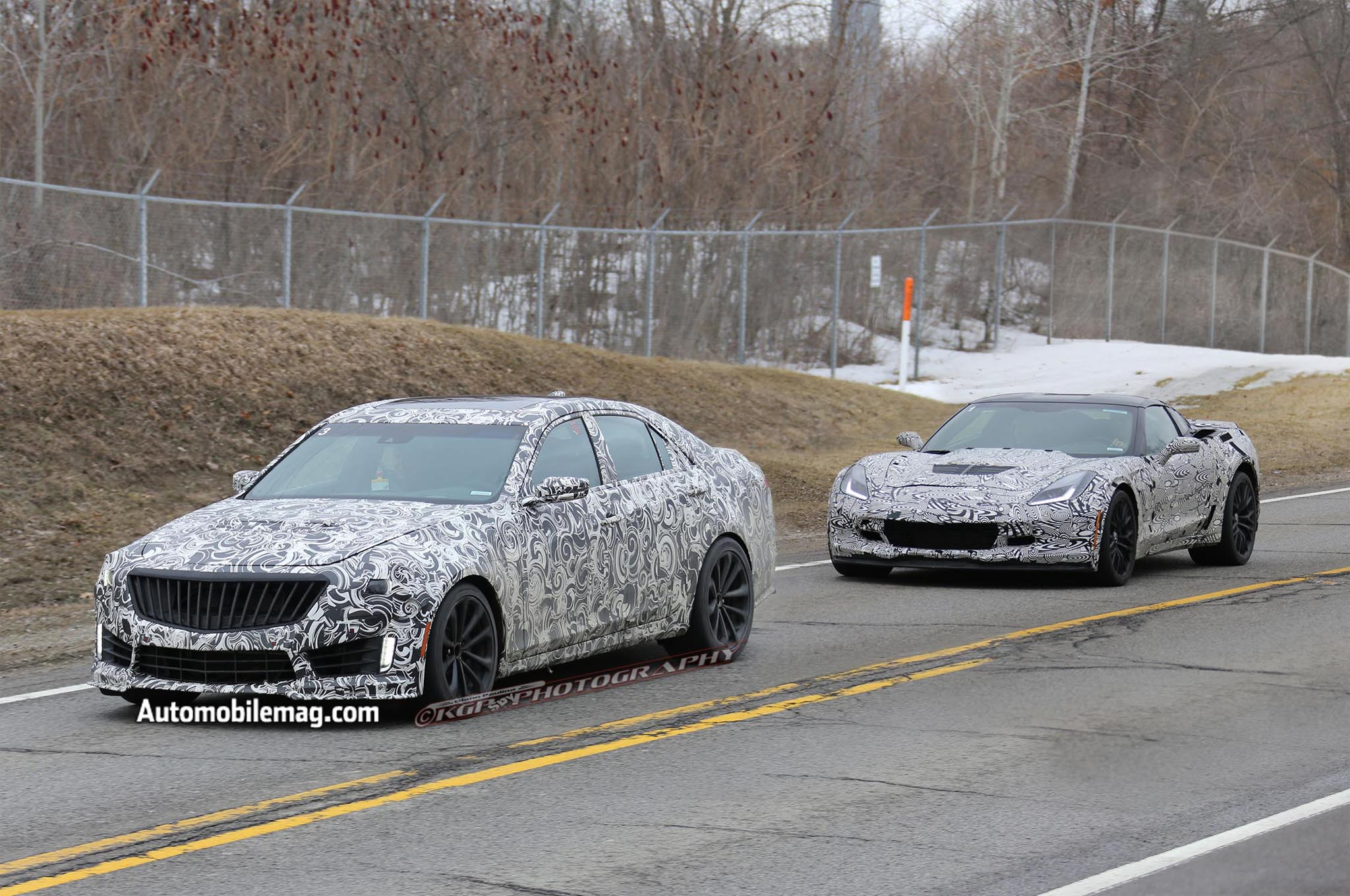 2015 Cadillac Cts V Spy Shot 21 Front Three Quarter With Z061