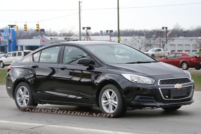 2016 Chevrolet Cruze Spied Front Three Quarters 051 660x438