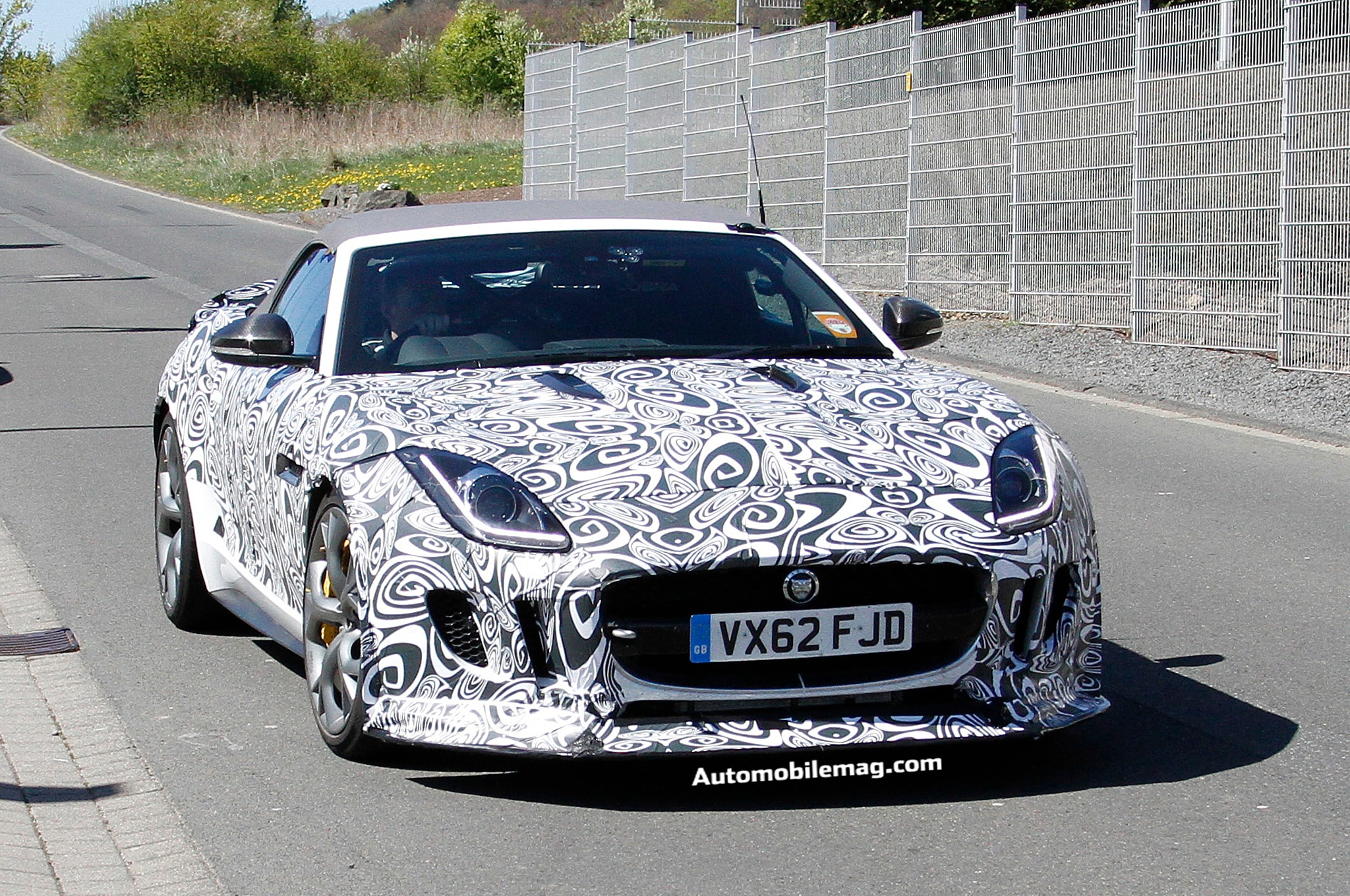 Jaguar F Type R S Convertible Spied 1 Front Three Quarter1