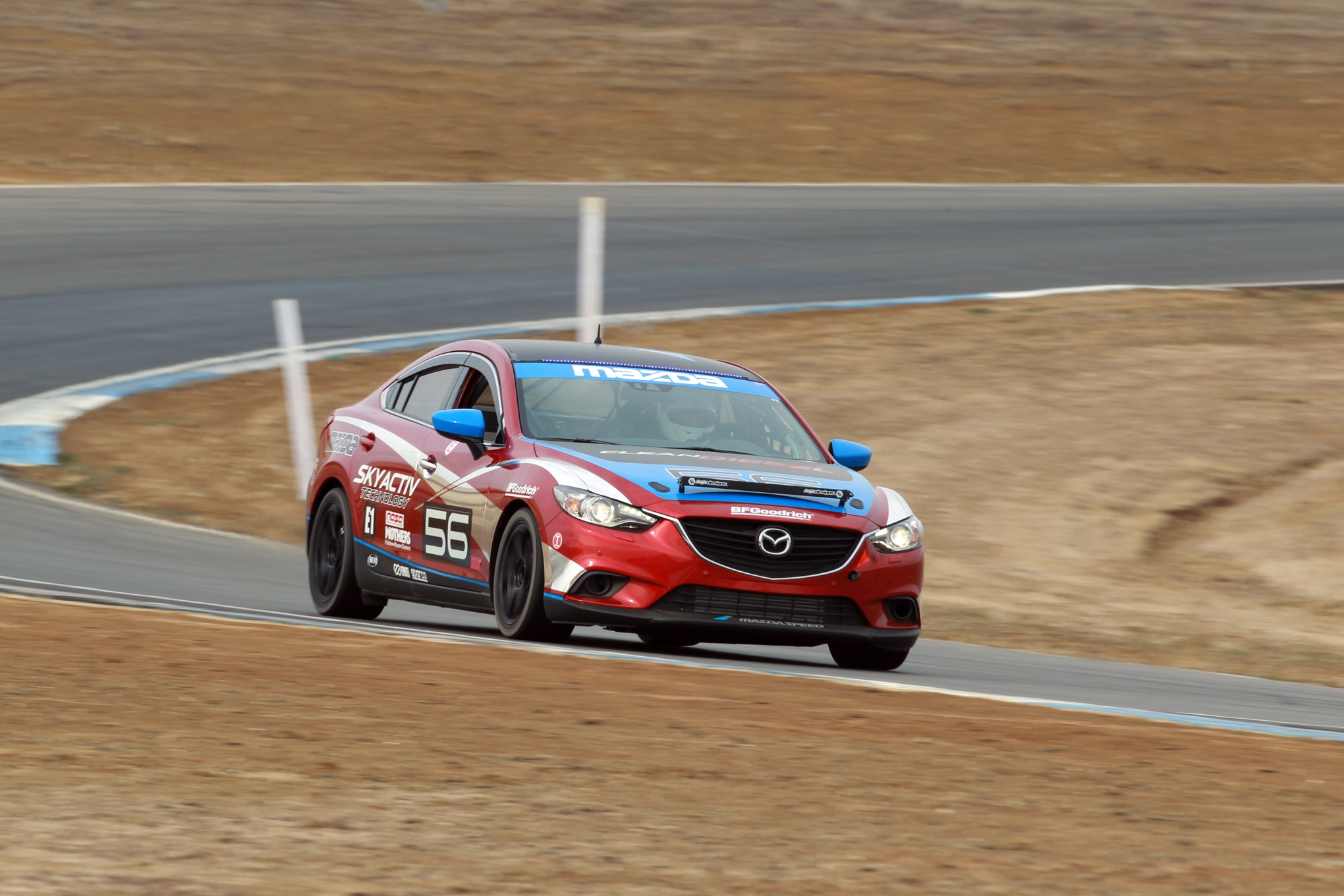 Mazda6 Diesel Racecar Front Three Quarter In Motion