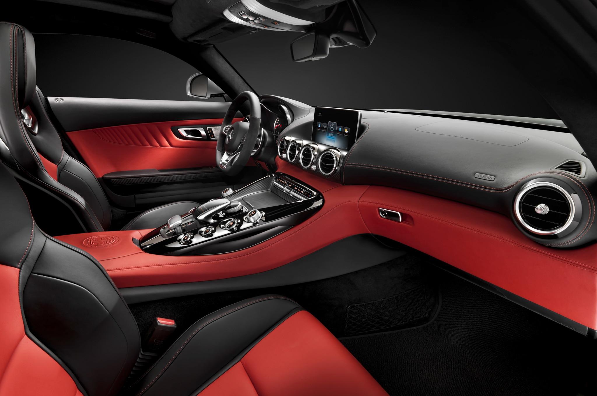 Mercedes Benz AMG GT Interior From Passenger Side