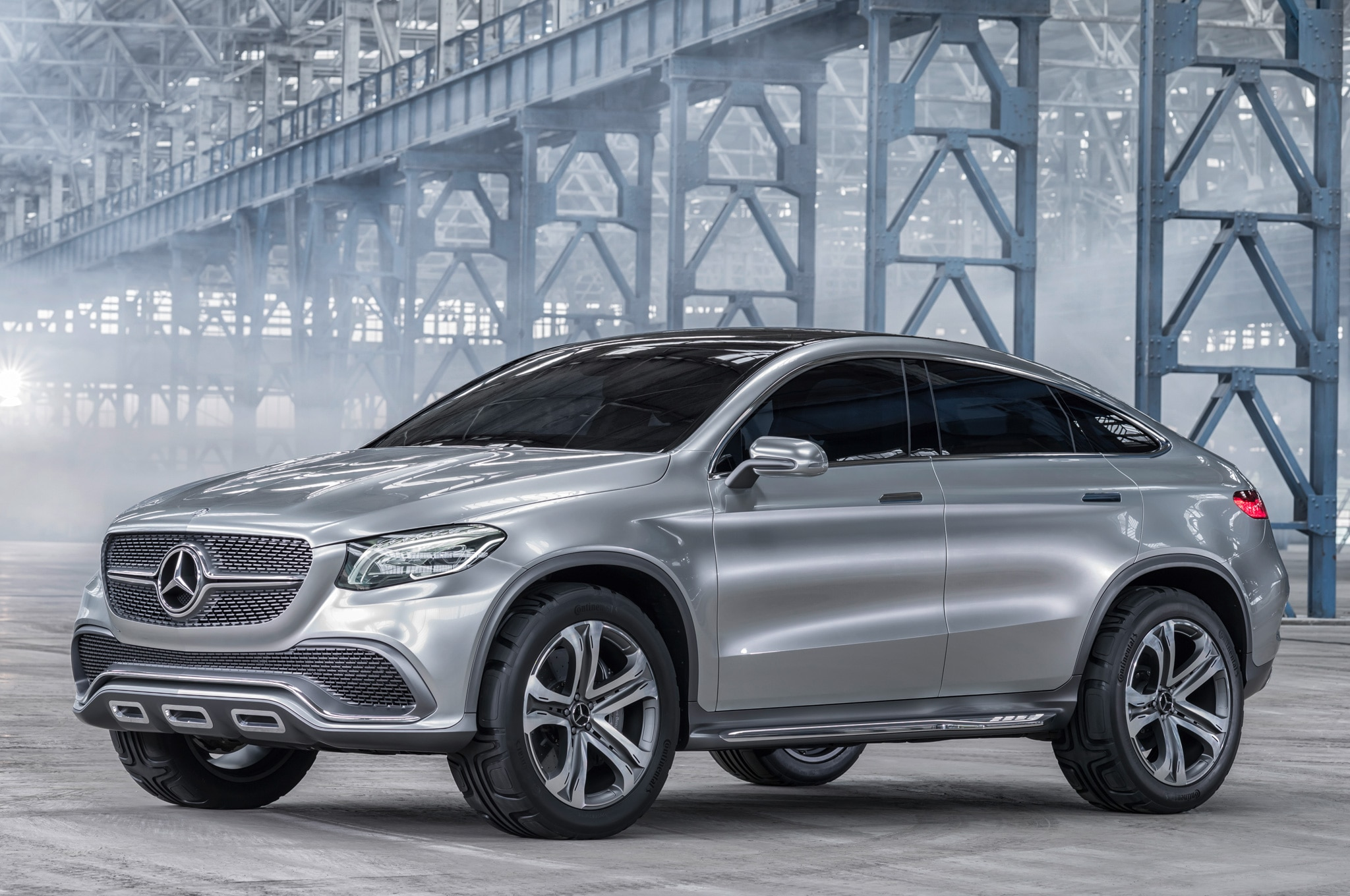 Mercedes Benz Concept Coupe SUV Front Side View Static1