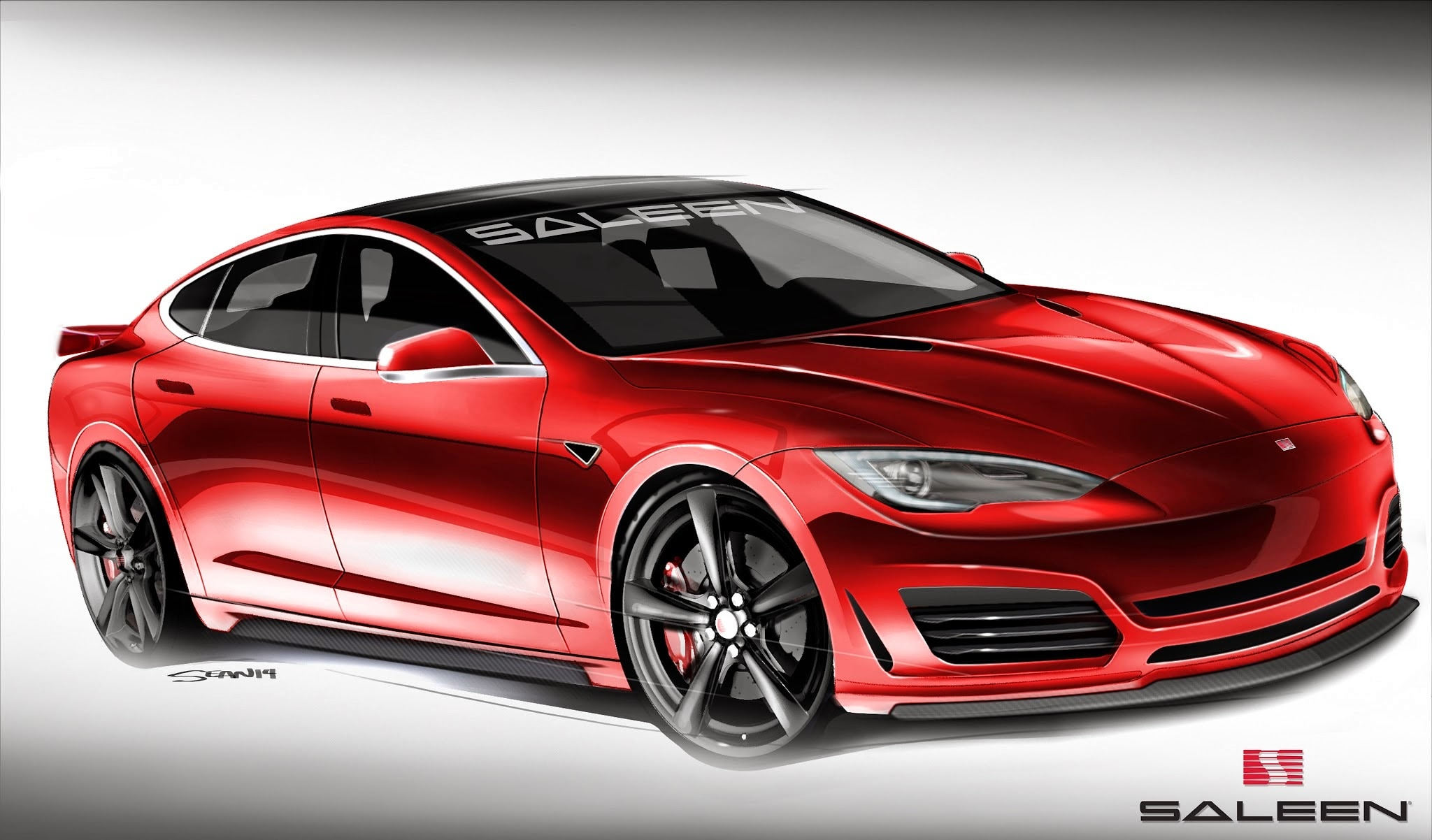 Saleen Tesla Model S Rendering Front1