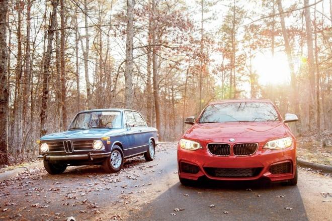 1972 BMW 2002tii And 2014 BMW M235i3 660x440