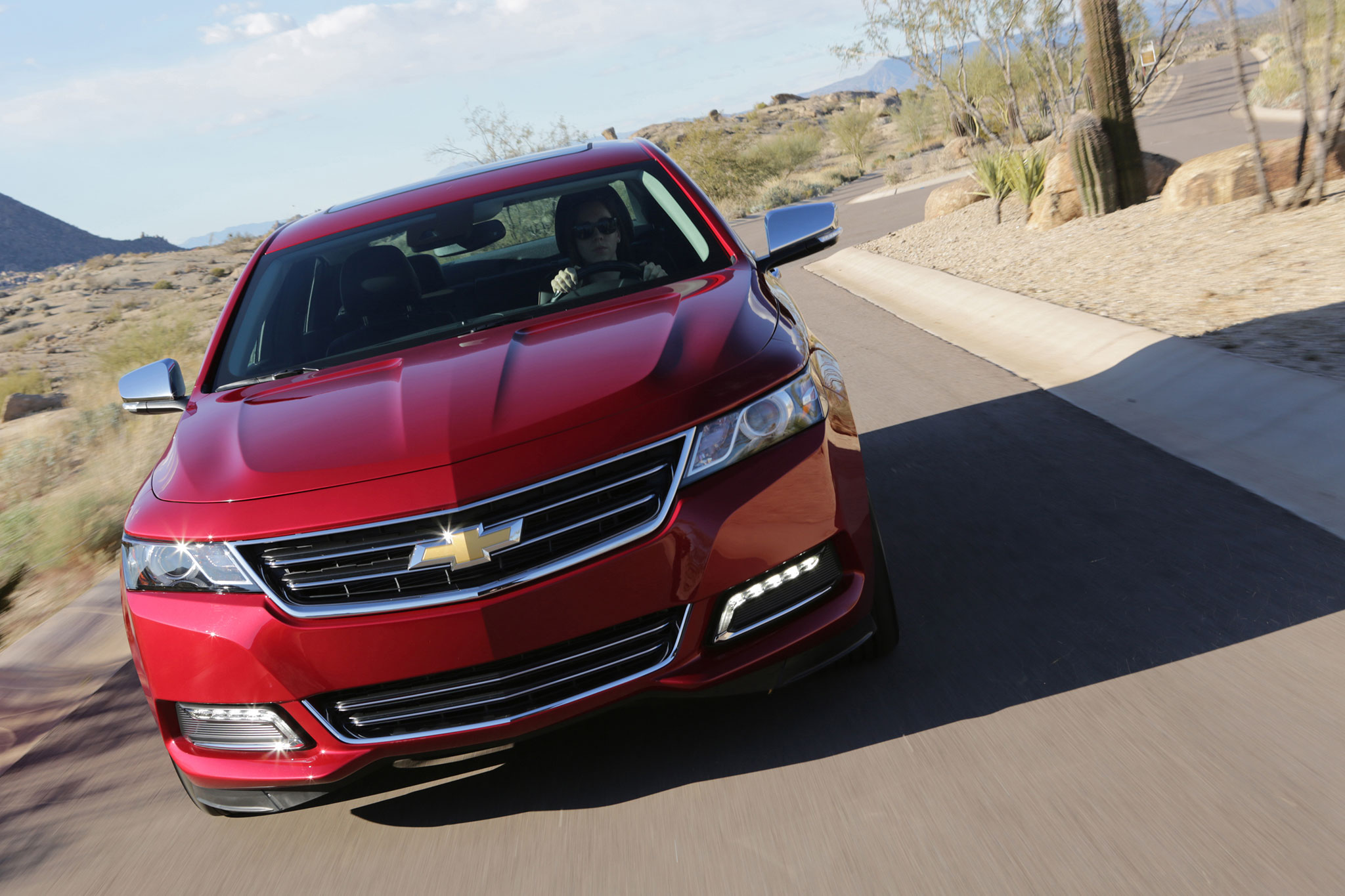 2014 Chevrolet Impala LTZ Front View In Motion1