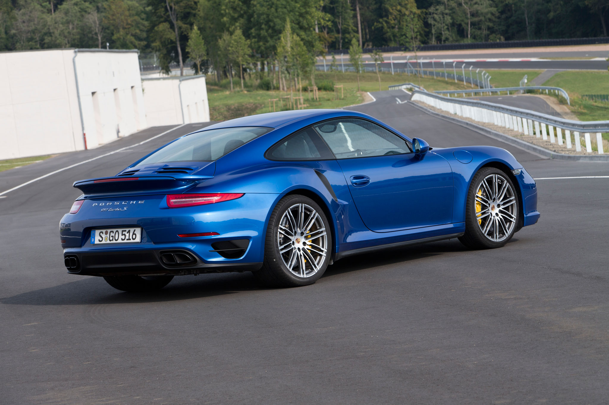 2014 Porsche 911 Turbo S Rear Right Side View 21
