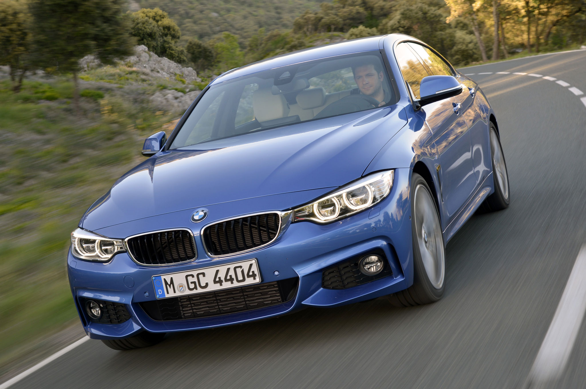 2015 BMW 428i Gran Coupe Front Motion View Lights On1