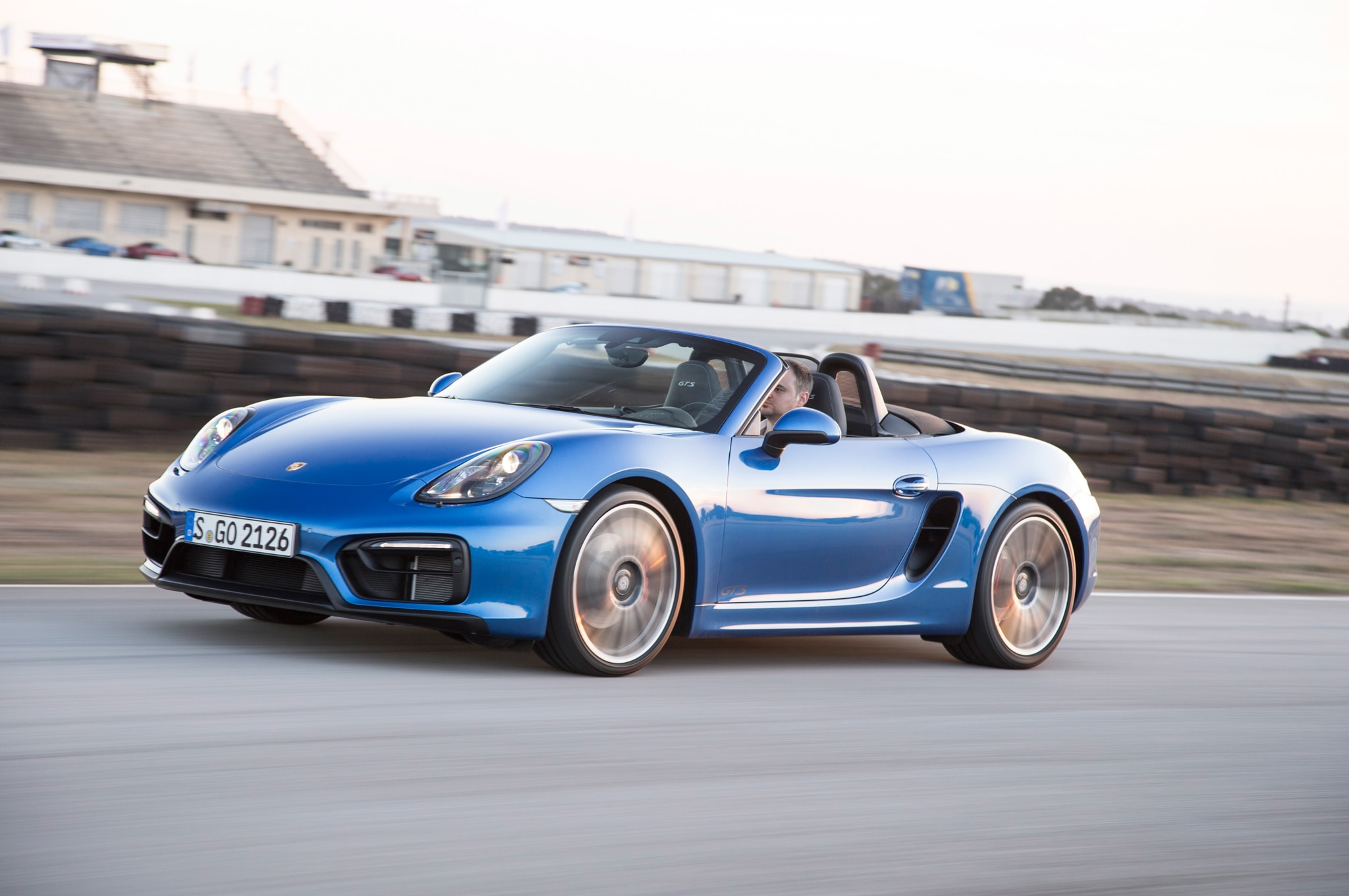 2015 Porsche Boxster GTS Front Three Quarter In Motion 031