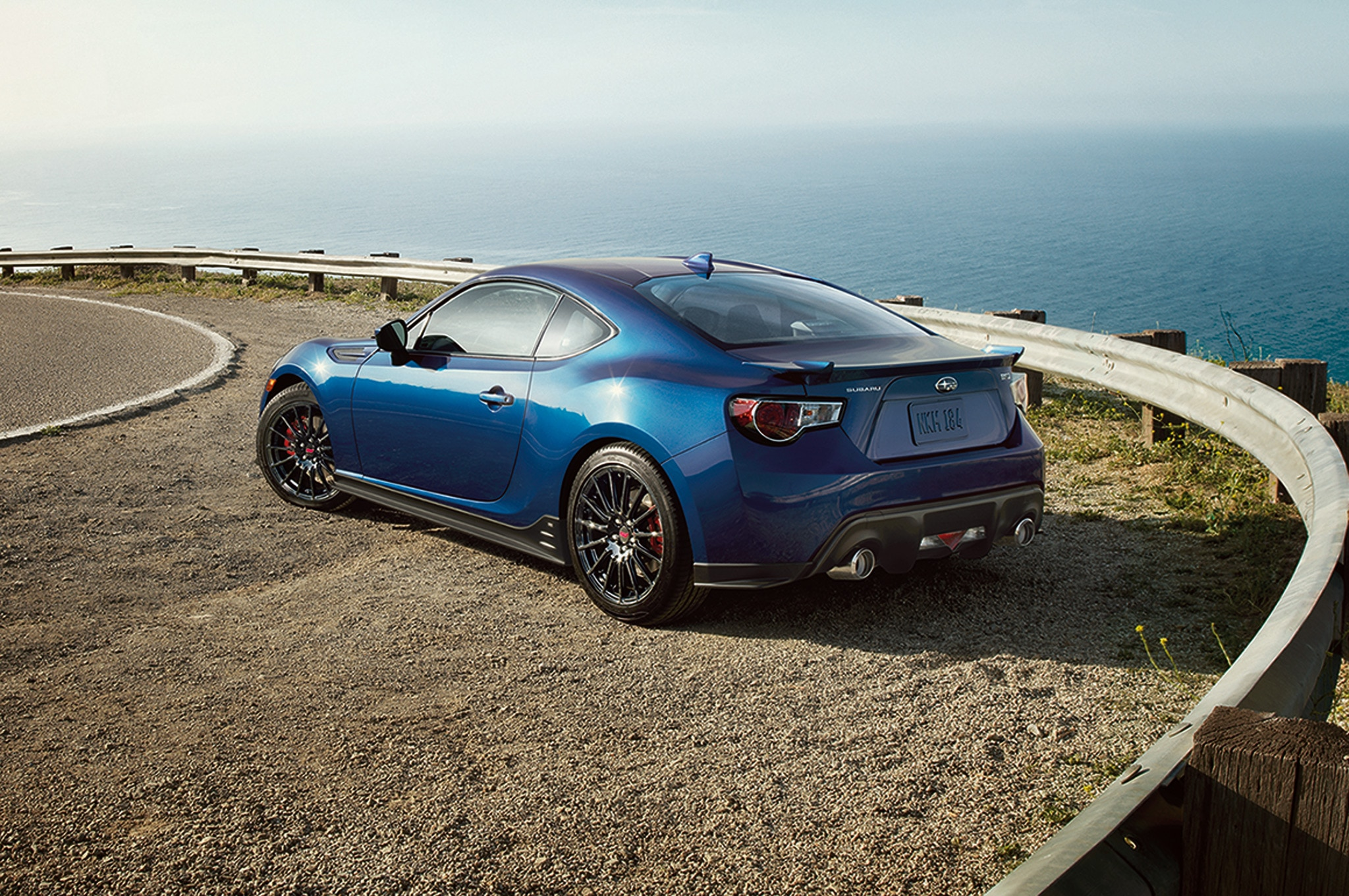2015 Subaru BRZ Series Blue Rear Side View1