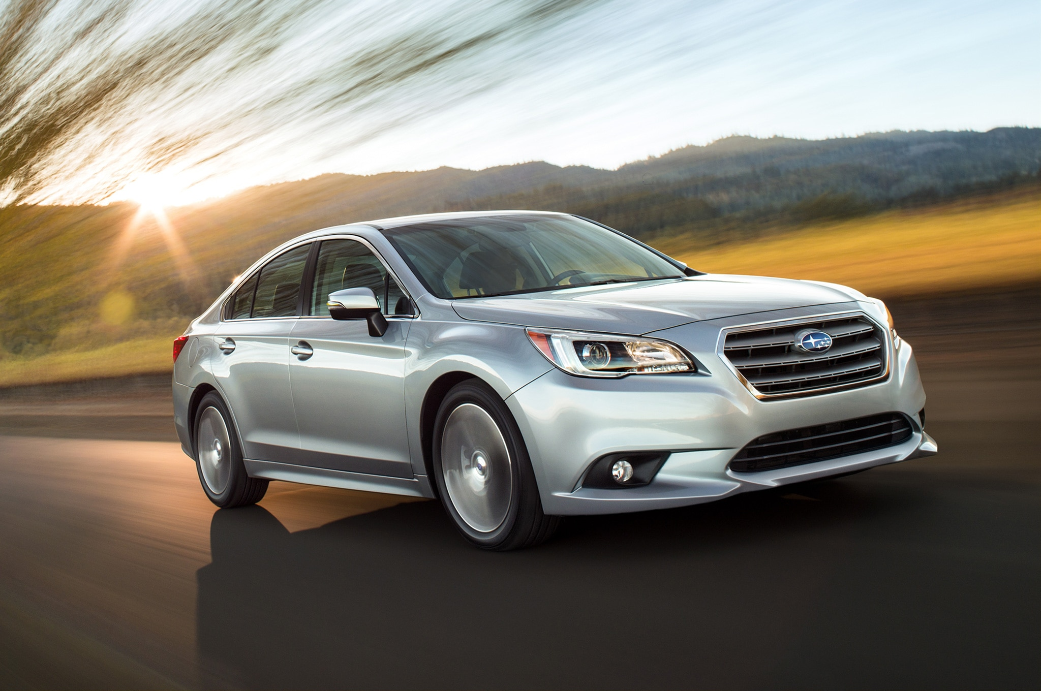 2015 Subaru Legacy Front Side View In Motion1