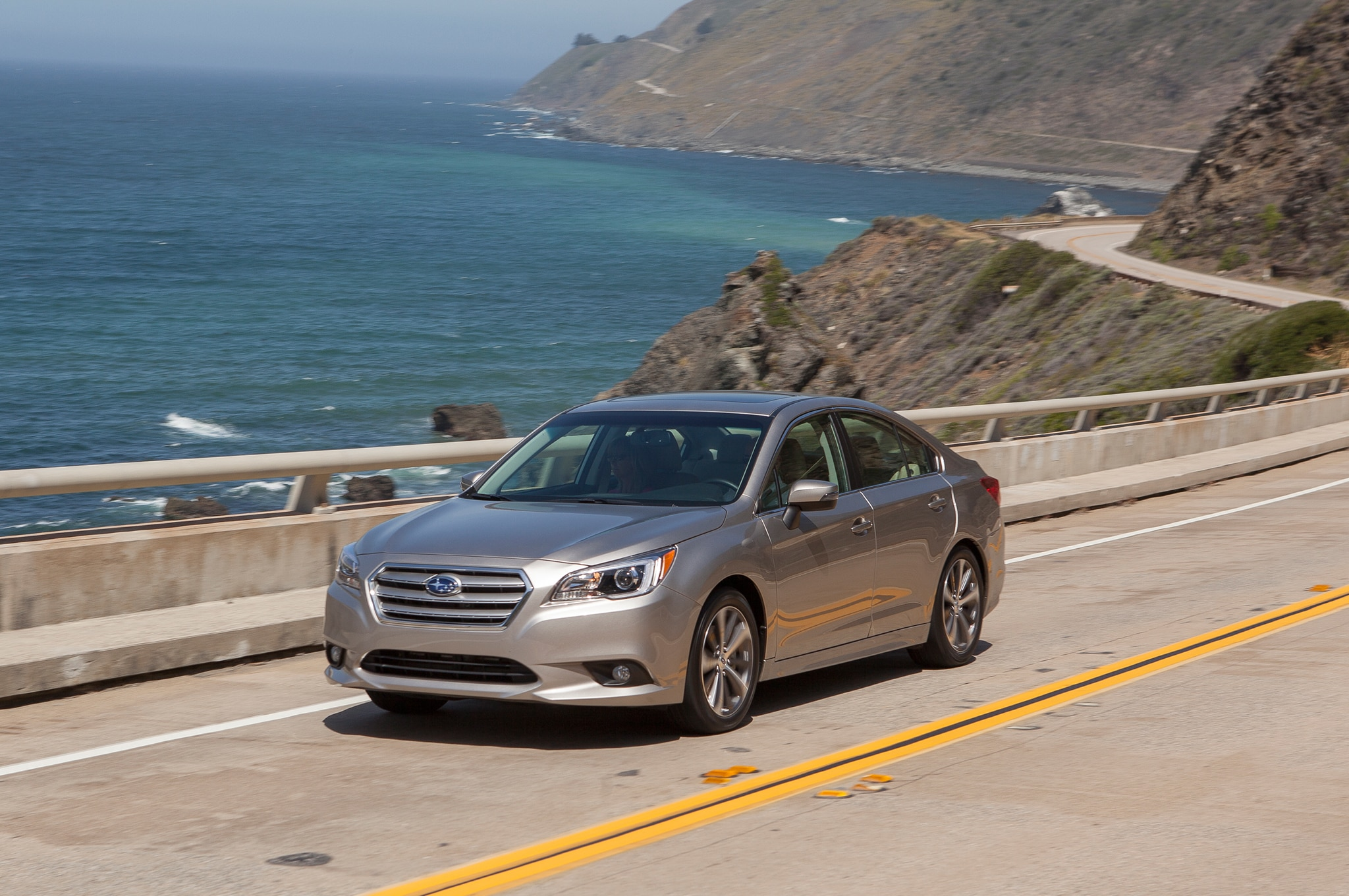 2015 Subaru Legacy Front Three Quarter In Motion 061