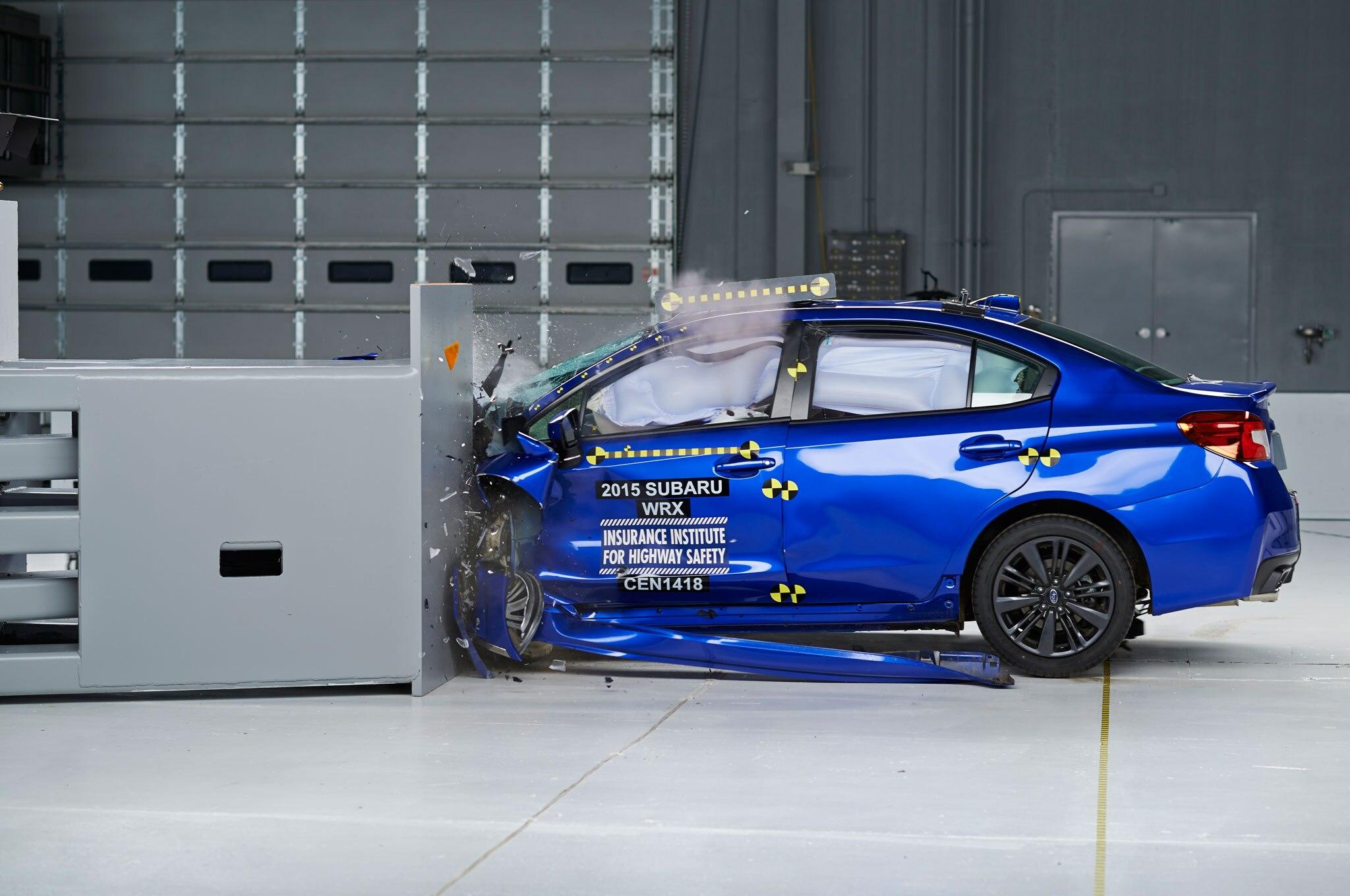 2015 Subaru WRX IIHS During Test1