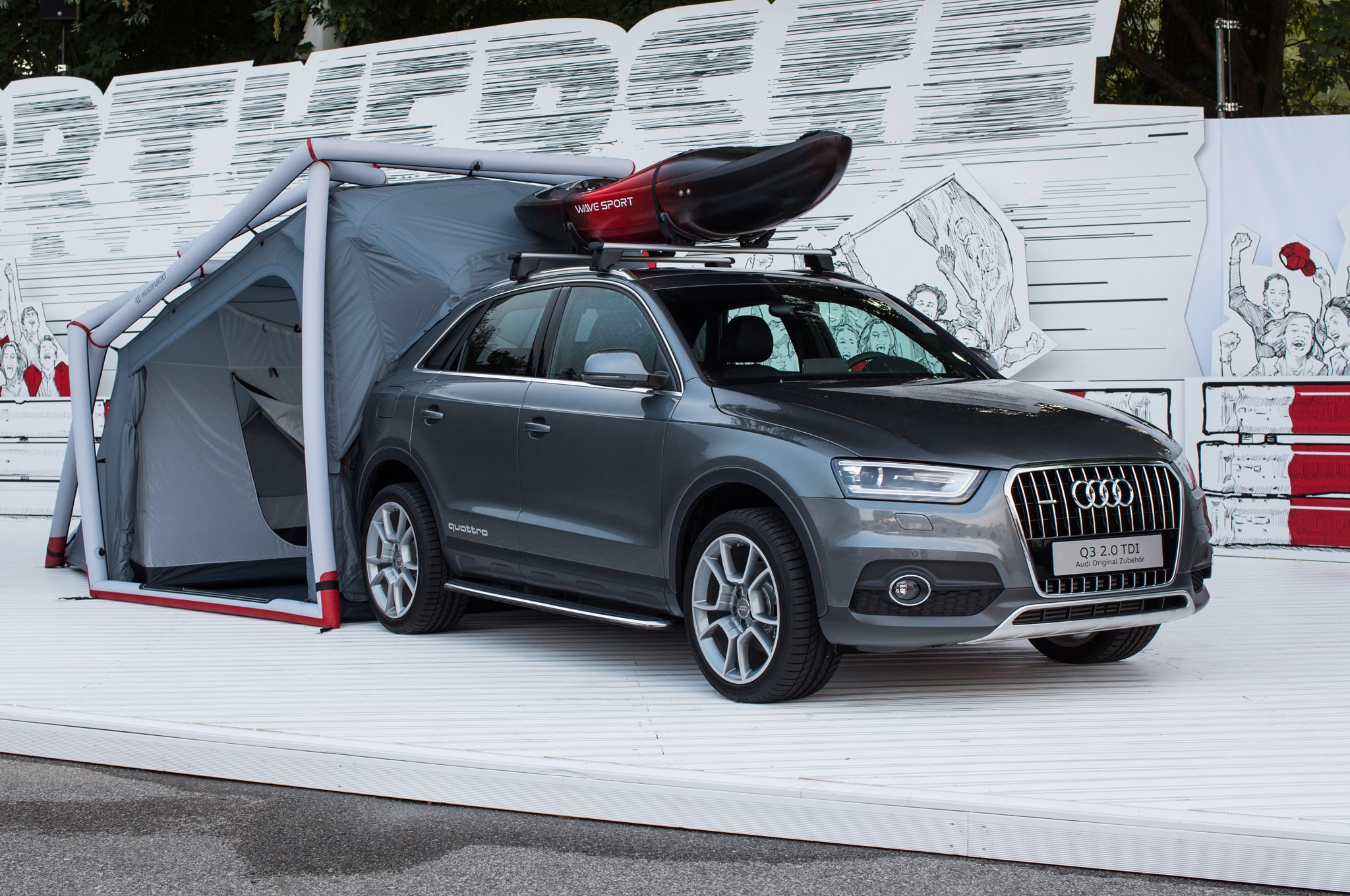 Audi Q3 Tent And Kayak Mount Shown At Worthersee Side View1