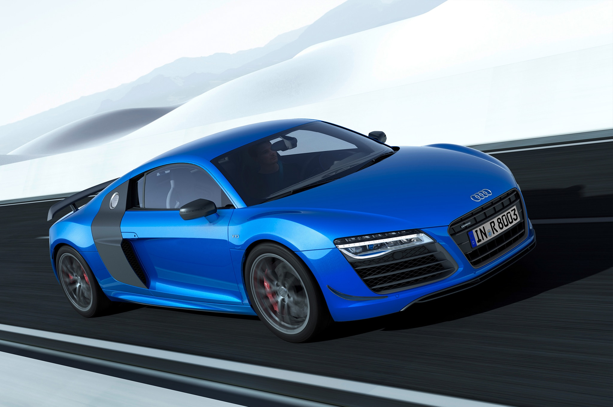 Audi R8 LMX Front Three Quarters In Motion1