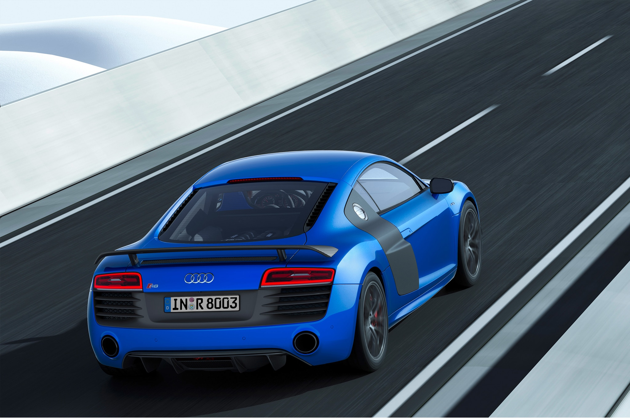 In addition to the upgraded lighting technology the 2014 audi r8 lmx